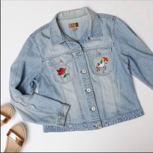 Vintage 90s 1990s Patch Denim Jean Jacket